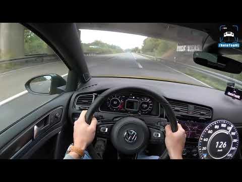 VW Golf R 2019 на немецких автобанах - максималка и разгон до сотни