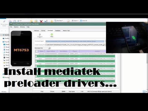 How To Install MTK USB Preloader (VCOM) Drivers | Windows 10, 8.1, 8, 7