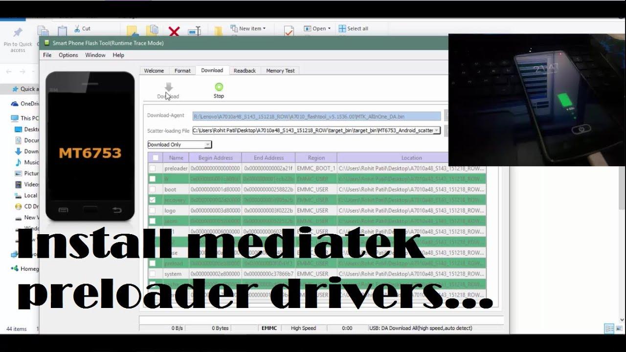 how to install mtk usb preloader vcom drivers windows 10 8 1 8 7 youtube. Black Bedroom Furniture Sets. Home Design Ideas