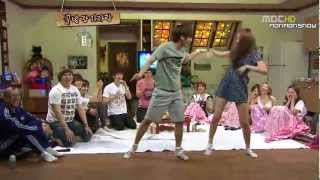 Dance Battle -Super Junior, SNSD, f(x)- SO Funny thumbnail