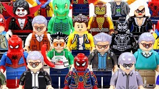 Stan Lee Cameo Tribute Spider-Man Villains & Foes Unofficial Lego Minifigures