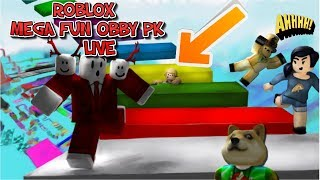 NEW LIVE STREAM ROBLOX!!! MEGA FUN OBBY COME AN PLAY