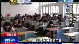 中天新聞》直擊!吃喝玩樂睡大覺 大學教室亂象 thumbnail