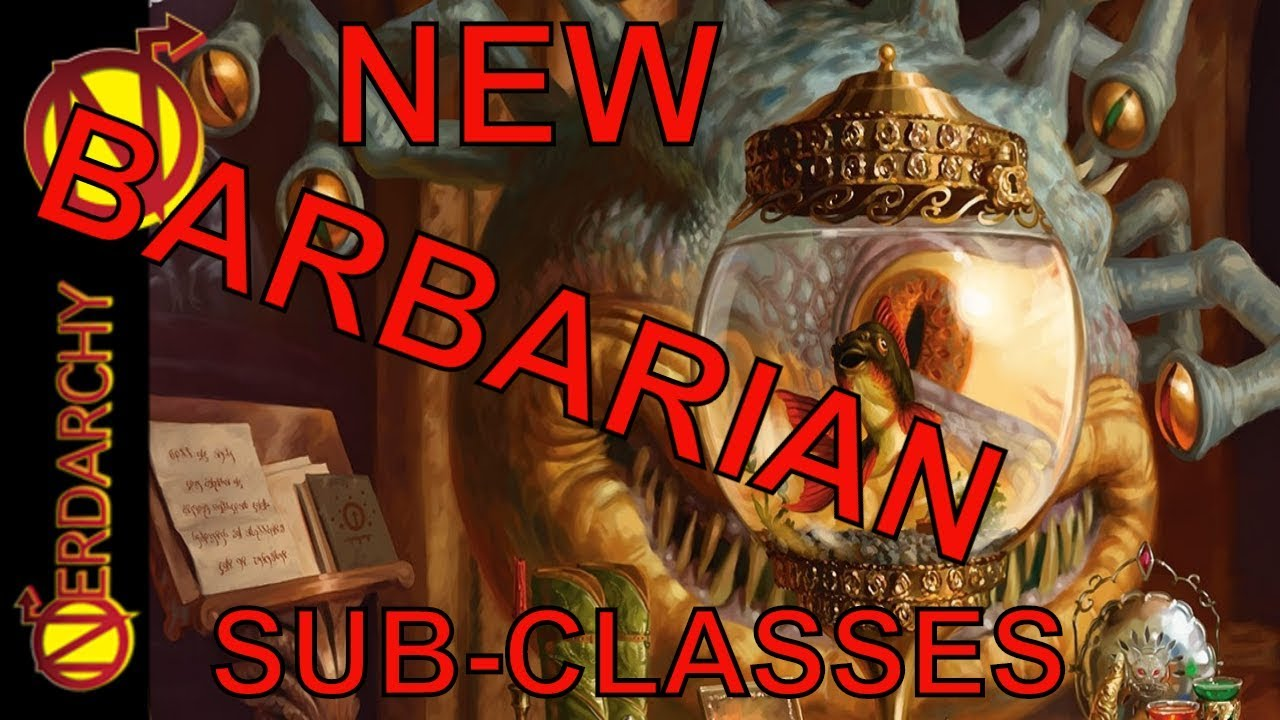 NEW Barbarian Subclasses- Xanathar's Guide to Everything for 5E D&D