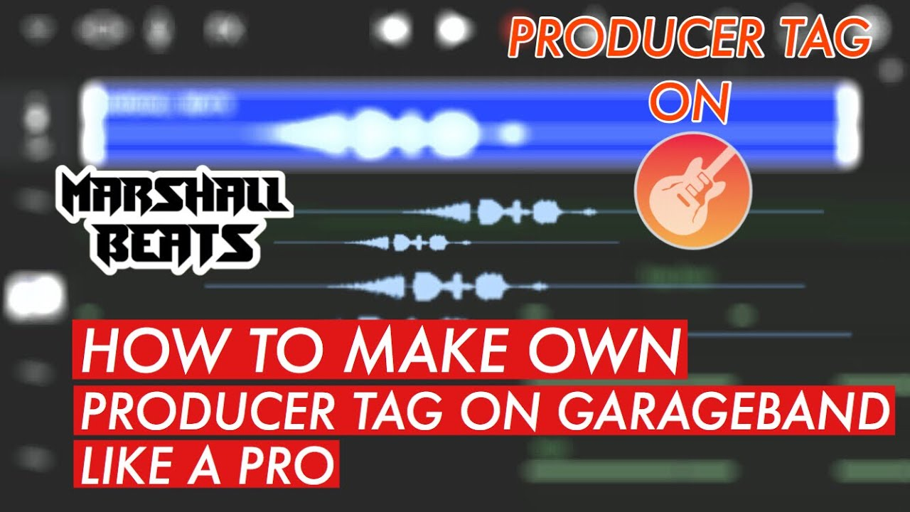 How To Make Producer Tag Like a Pro ON GARAGEBAND IPHONE/IPAD(part 1)