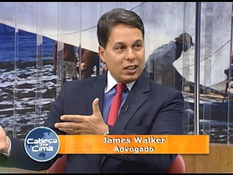 JAMES WALKER ADVOGADO CRIMINALISTA EM ENTREVISTA AO PROGRAMA CABEÇA PRA CIMA DA TV BOAS NOVAS