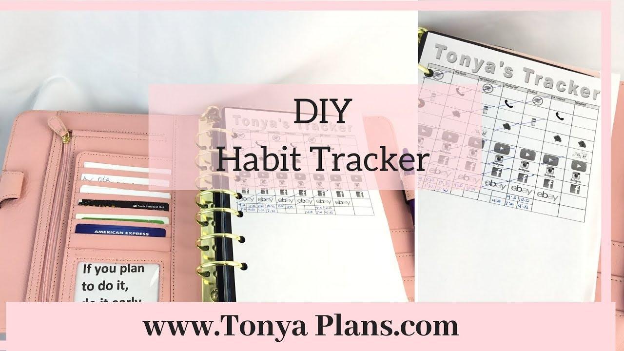 habit tracker idea free habit tracker printable youtube