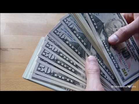 $ Counting stack of US DOLLAR $