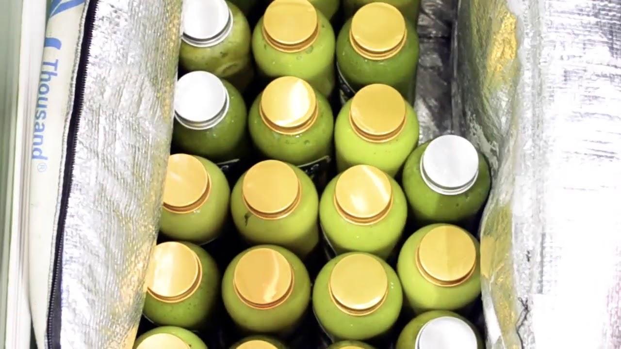 Quy trình chế biến nước uống sinh tố rau củ Green O