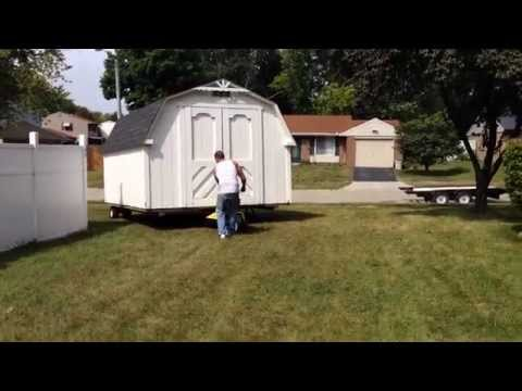 The trick of how to move a shed the easy way