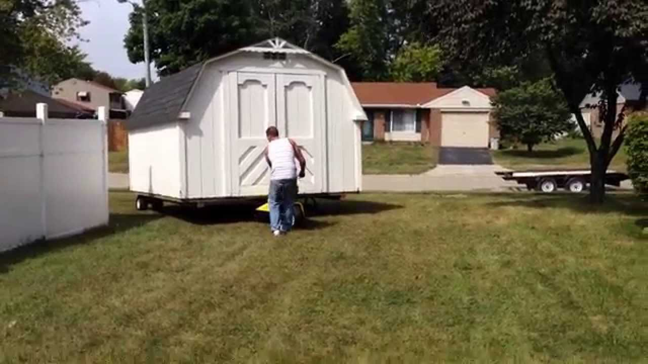 The Trick Of How To Move A Shed The Easy Way Youtube