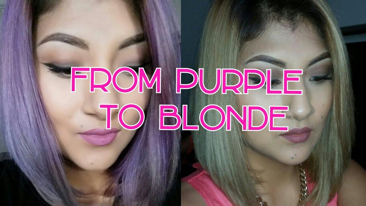 remove purple hair