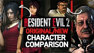 Resident Evil 2 Remake/Original Characters Comparison