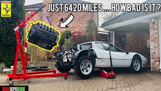 Barn Find Ferrari 512 BBi Engine Removal ... What Could Possibly Go Wrong ?