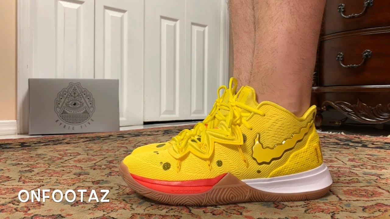 Nike Kyrie 5 Spongebob Squarepants On Foot