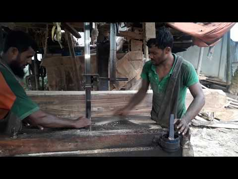 Wood Cutting in Very Small Prices at Rural Village in Bangladesh/BD Wood Cutting Saw Mill in Village