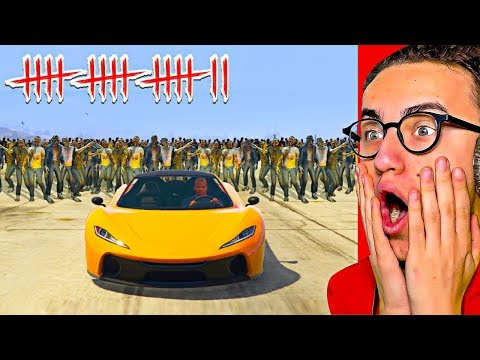 I TRIED TO ESCAPE A ZOMBIE APOCALYPSE in GTA 5!