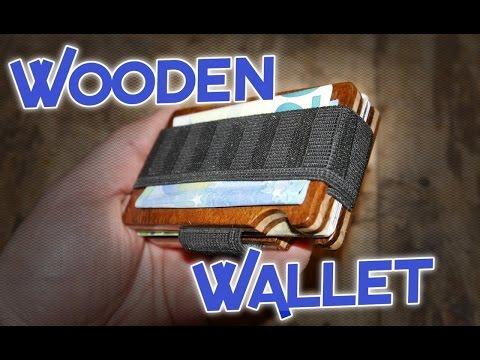Minimalist Wooden Wallet,      E.D.C. kit part 1