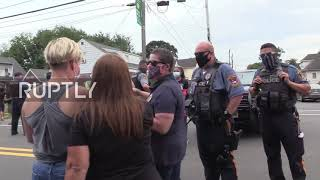 USA: Pro-police rally is met with BLM counter-protesters in New Jersey