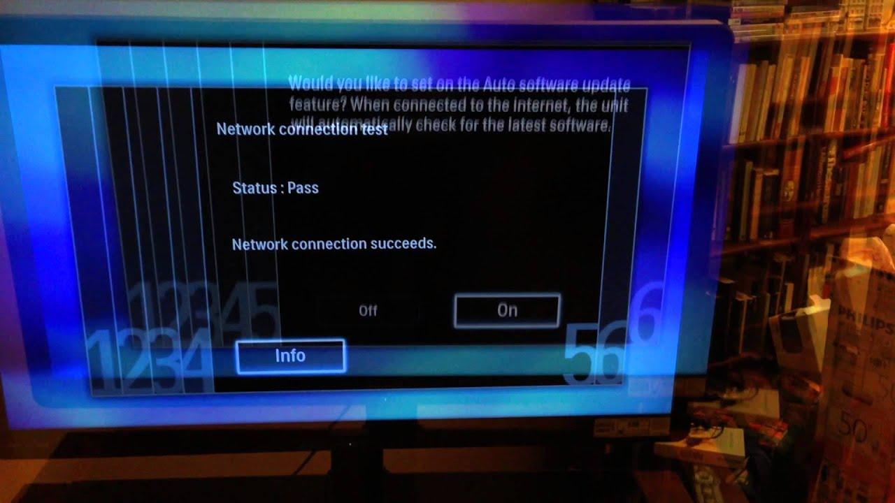 Philips tv system software update in progress