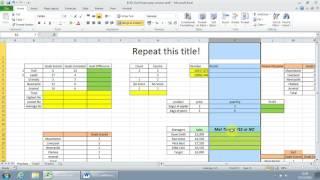 ECDL Excel walkthrough