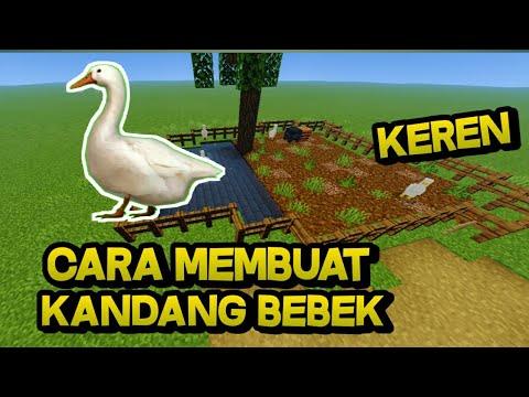 cara membuat kandang bebek:di Minecraft - YouTube
