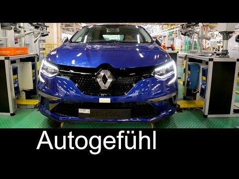 How the all-new car Renault Megane is built: press/paint/assembly/quality - production Plant