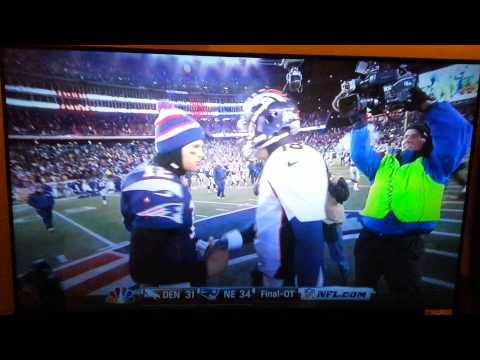 Cameraman gets pissed Brady Manning handshake