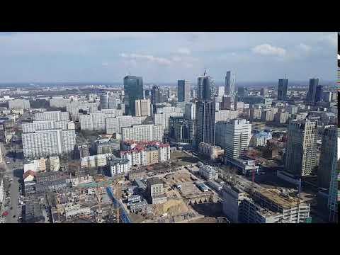 Widok z 36 piętra Warsaw Trade Tower