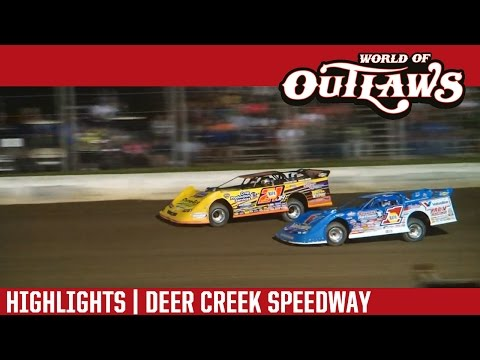World of Outlaws Craftsman Late Models Deer Creek Speedway July 9th, 2016 | HIGHLIGHTS