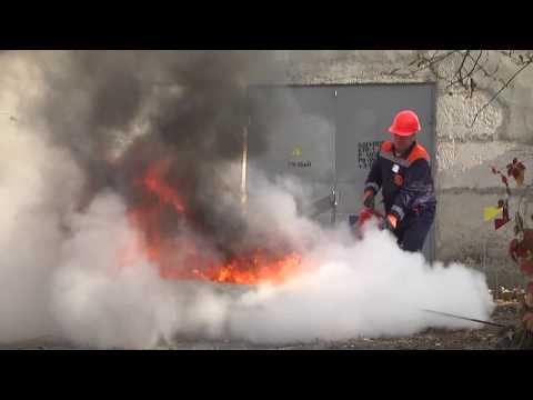 MNSKHM: Кам'янець-Подільські рятувальники разом із енергетиками провели об'єктове навчання