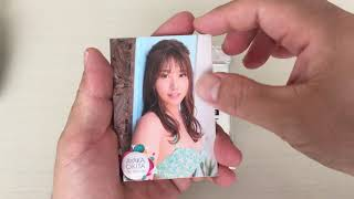 沖田彩華のファースト・トレーディングカード 安かったので開けてみました!