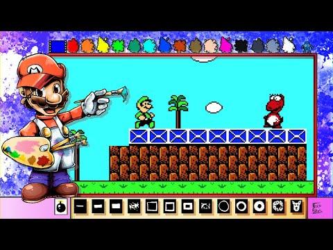 Mario Paint Creations - Super Mario Bros. 2 Pixel Art Scene