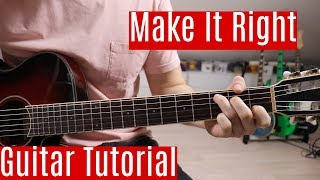 Download Make It Right - BTS | Guitar Tutorial/Lesson | Easy How To Play (Chords)