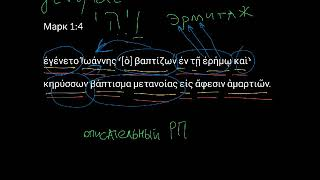 Марк 1:4. Уроки древнегреческого. Читаем и разбираем Новый Завет