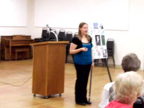 Sarah Moe's speech on Andrew Carnegie