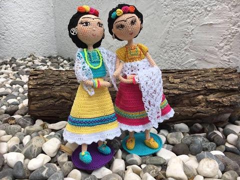 Amigurumis De Frida Kahlo : Como tejer muñeca amigurumi frida by petus ochoa primera parte