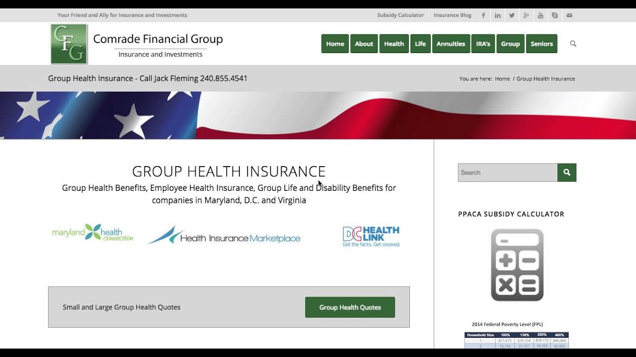 Group Health Insurance Quotes Maryland, D.C. and Virginia ...