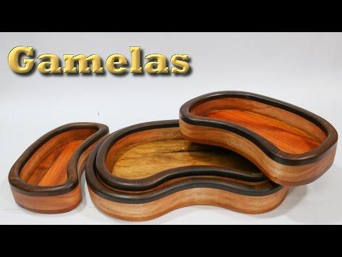 Gamelas (tijela) de madeira - Como fazer com apenas 3 ferramentas