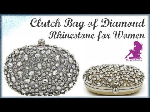 MS HEDY Diamond Rhinestone Bridal Wedding Party Clutch Women Luxury Brand Bags