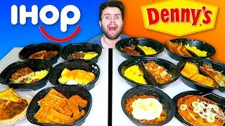 IHOP BREAKFAST vs. DENNY'S BREAKFAST - Restaurant Taste Test!