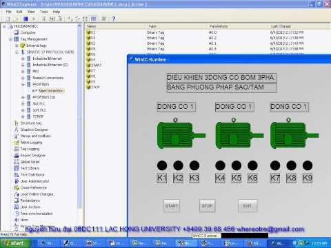 điều khiển 3 động cơ bơm 3 pha không đồng bộ sử dụng điện áp 380VAC/3 phase luân phiên