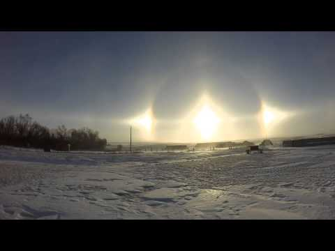 GoPro Hero 3+ Sun Dogs Time Lapse in North Dakota 1/3/15