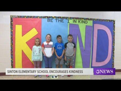 Welder Elementary School in Sinton encourages kindness