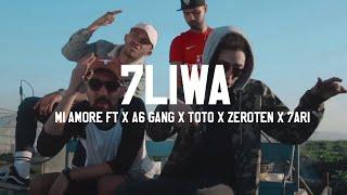 Смотреть клип 7Liwa Ft. X A6 Gang X Toto X Zeroten X 7Ari - Mi Amore