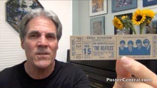 Beatles Complete Concert Ticket 1965 Shea Stadium, NY