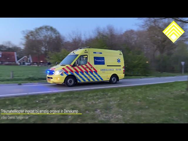 Ernstig ongeval in Denekamp; traumahelikopter ingezet