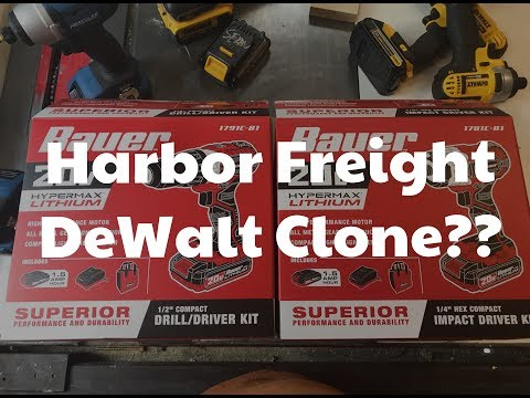 Harbor Freight Bauer 20v drill and impact driver