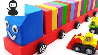 Garage Disney Car Mcqueen with Kinetic Sand Lego Rainbow - Lien Dance New 2018