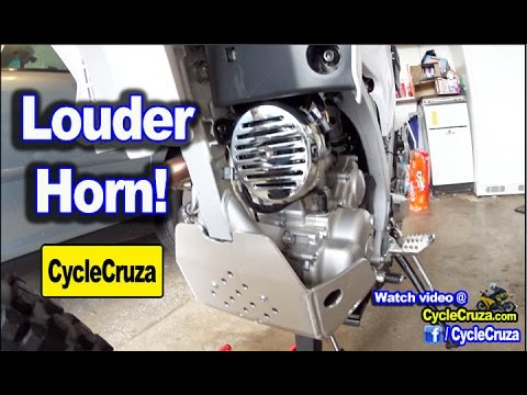 Louder Motorcycle Horn Installed - Comparison to Stock Horn